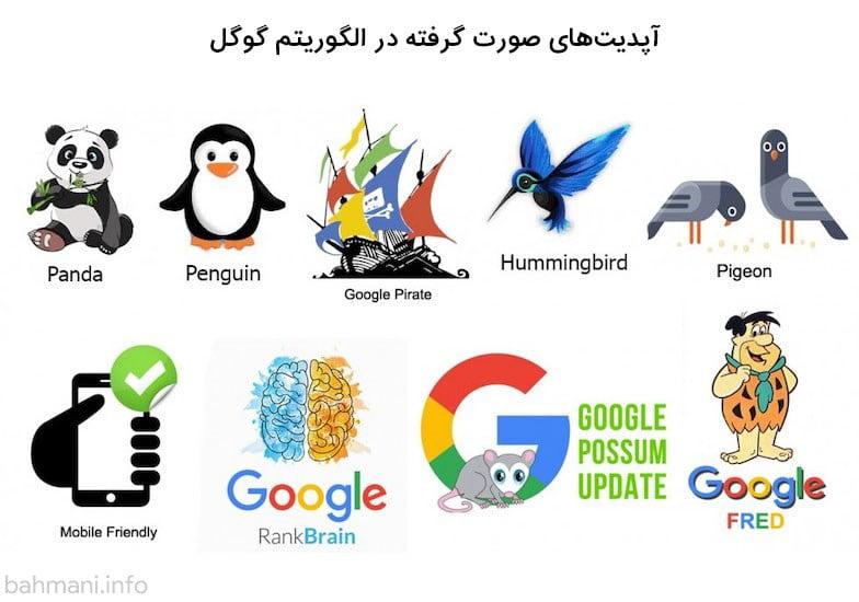 آپدیت الگوریتمهای گوگل