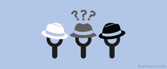 سئوی کلاه سفید سیاه خاکستری