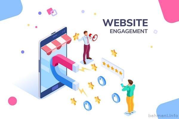 تعامل کاربران با وبسایت