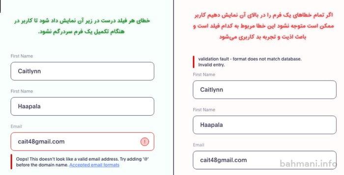 نمونهای از کاربرد ux یا تجربه کاربری در یک وبسایت
