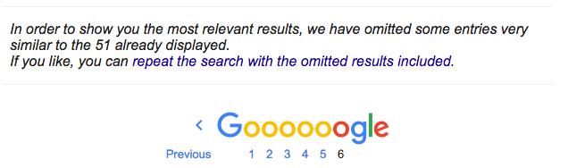 گوگل نتایج تکراری را حذف میکند